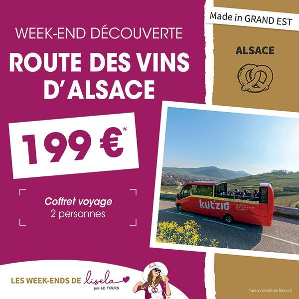 WEEK-END DÉCOUVERTE ROUTE DES VINS D'ALSACE